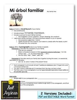 Spanish Family Tree Project - Mi Árbol Familiar