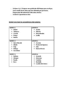 Proyecto El tiempo en Andalucía