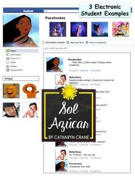 Spanish Facebook Project Templates Project Rubric Student Examples