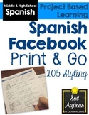 Spanish Facebook Project - Print and Go Template