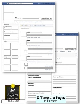 picture about Printable Job Application in Spanish known as Spanish Fb Challenge - Print and Transfer Template
