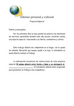 Proyecto: Informe personal y cultural