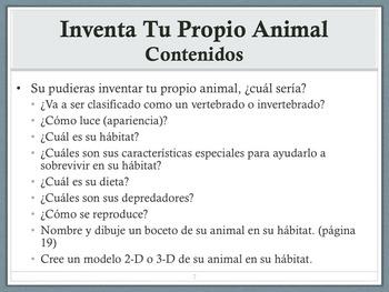 Proyecto de Inventar un Animal