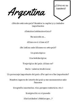 Proyecto de países hispanohablantes
