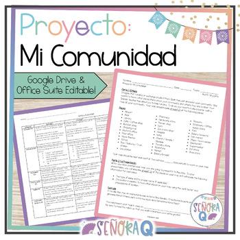 Proyecto y Presentación Oral: Un Mapa de la Comunidad