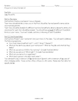Proyectos: La Comida (4 Customizable Versions)