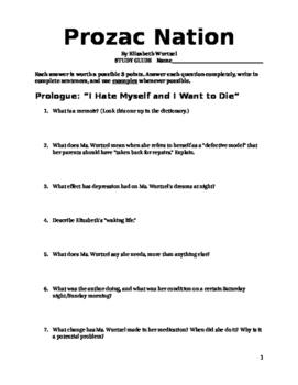 Prozac Nation Novel Guide Part 1