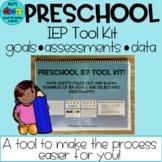 Preschool IEP Goals, Objectives, and Assessments : A Tool Kit for Teachers!