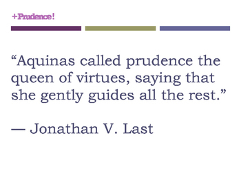 Prudence Quote Posters (8.5 x 11) CHRISTIAN SCHOOL