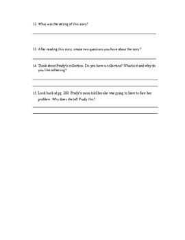 Reading Street- Prudy's Problem Comprehension Worksheet