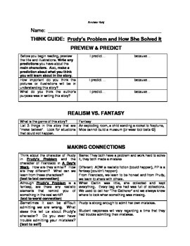 Prudy's Problem Think Guide (comprehension guide)