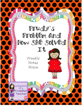 Prudy's Problem and How She Solved It Weekly Letters (Reading Street)
