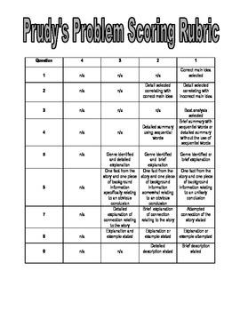 Prudy's Problem Assessment Reading Street Third Grade