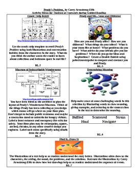 Prudy's Problem Common Core Aligned Literacy Centers