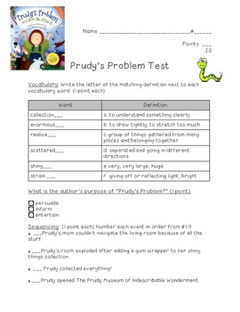 Prudy's Problem and How She Solved It---Kid-Friendly Test!