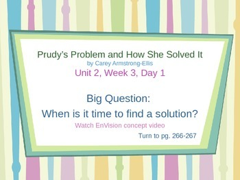 Prudy's Problem and How She Solved It  - PowerPoint Reading Street 3.2.3