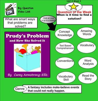 Prudy's Problem and How She Solved It SmartBoard Menu
