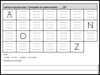 Prueba Diagnóstica Primer Grado! Spanish Beginning of Year Assessment 1st Grade!
