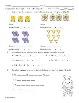 Prueba de multiplicación