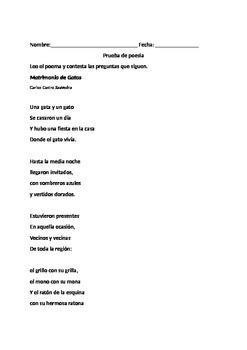 Prueba de poesía