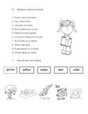 Prueba de preposiciones, sustantivos y verbos