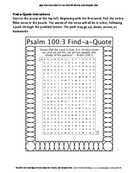 psalm 100 4 coloring pages - photo#33