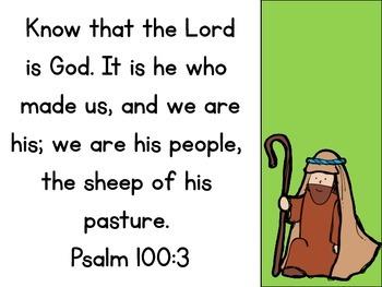 Psalm 100:3 Sheep Craftivity