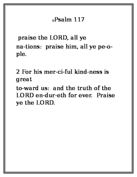 Psalm 117 in Words of One Syllable