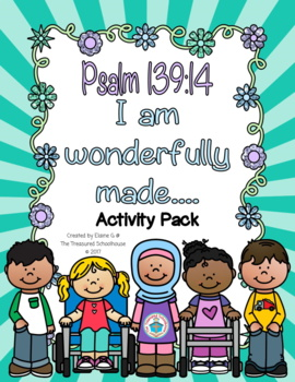 Psalm 139:14 Activity Pack for I Am Wonderfully Made
