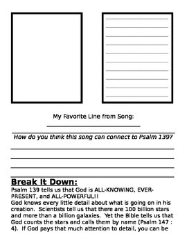 Psalm 139- HE KNOWS MY NAME!!!!  (Perfect for Back to School)