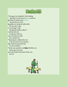 Psalm 23 – A Microsoft Word Review