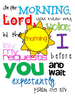 Psalm 5:3 Scripture {Simplified Teaching}