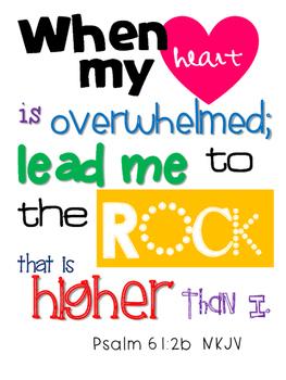 Psalm 61:2b Scripture {Simplified Teaching}