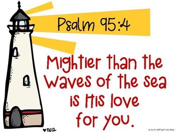 Psalm 95:4 Lighthouse Verse Freebie