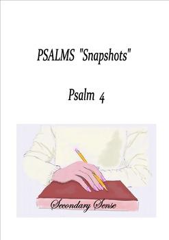 Psalm Snapshots:  Psalm 4