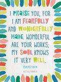 Psalms 139:14 Poster