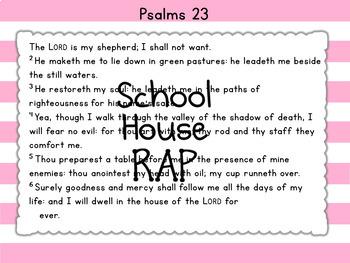 Psalms 23 Memory Verse