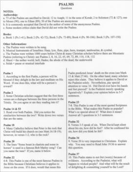 Psalms: Bible as Literature