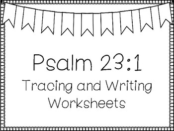 Psalms For Kids Psalm 23 1 Bible Verse Tracing And Coloring Worksheets