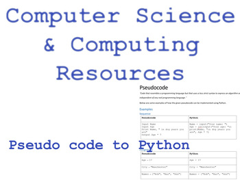 Pseudo code to Python introduction