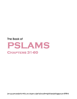 Pslams 31-60 WORD Guide