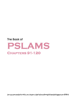 Pslams 91-120 WORD Guide