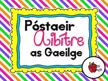 Póstaeir Aibítre as Gaeilge - Naíonáin - Gaeilscoil - á é í ó ú san áireamh