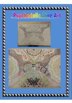 Psychedlic Line Art Lesson Plan