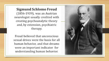 Psychoanalytical Literary Criticism Powerpoint Lesson + activity