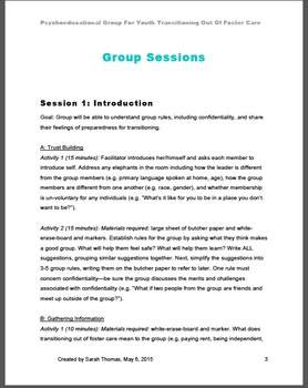 Psychoeducational Group For Transitional Aged Youth