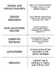 Psychological Disorders Flash Cards For Psychology