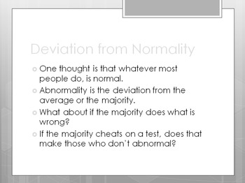Psychological Disorders PowerPoint