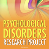 PSYCHOLOGY: Psychological Disorders Research Project | Google Classroom Ready