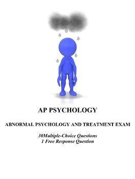 Psychological Disorders and Therapy Unit Exam for AP Psychology